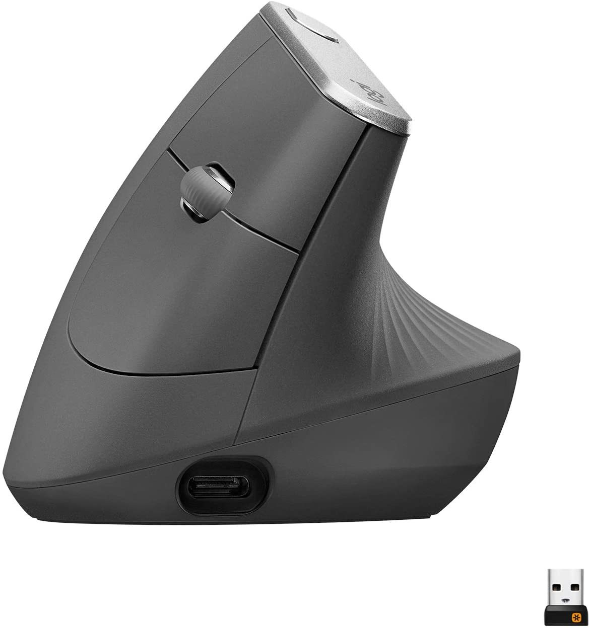 MX Vertical Wireless Mouse – Advanced Ergonomic Design Reduces Muscle Strain, Control and Move Content Between 3 Windows and Apple Computers (Bluetooth or USB), Rechargeable, Graphite