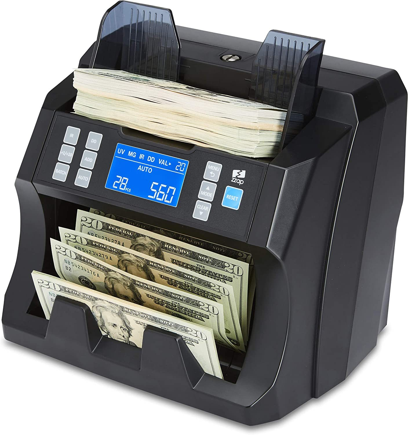 NC25 Bill Counter & Counterfeit Detector - Money Cash Currency Machine