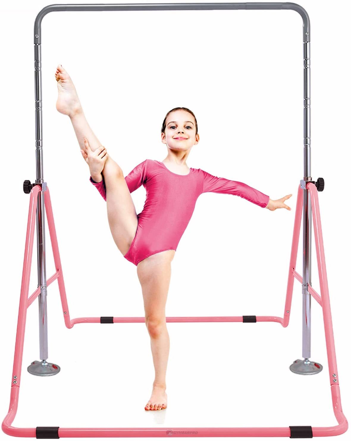Gymnastics Training Bar for Kids Expandable Adjustable Height Folding Horizontal Bar for Home