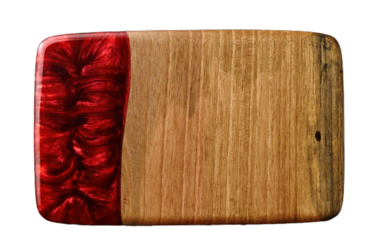 Luxury Handmade Resin Walnut Wooden Cutting Board Reversible Charcuterie And Cheese Board Multipurpose Serving Platter And