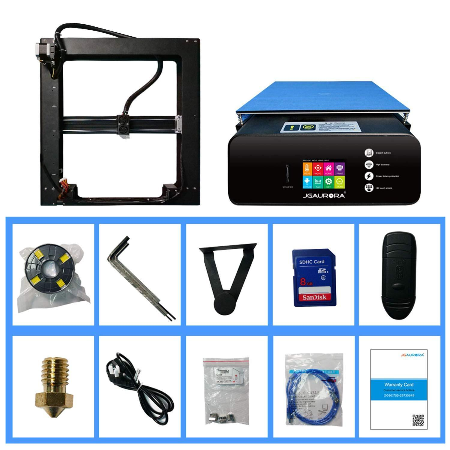 3D Printer A5S Upgraded Metal Frame Large Build Size 305x305x320mm Filament Runs Out Detection Resume Print 110V US Plug