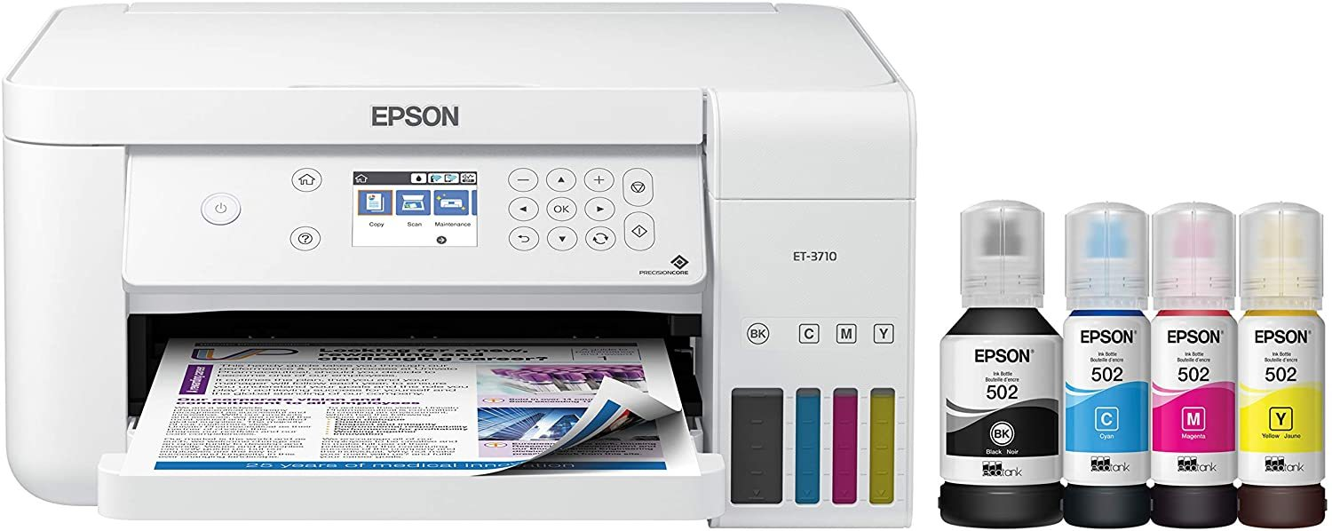 EcoTank ET-2760 Wireless Color All-in-One Cartridge-Free Supertank Printer with Scanner and Copier
