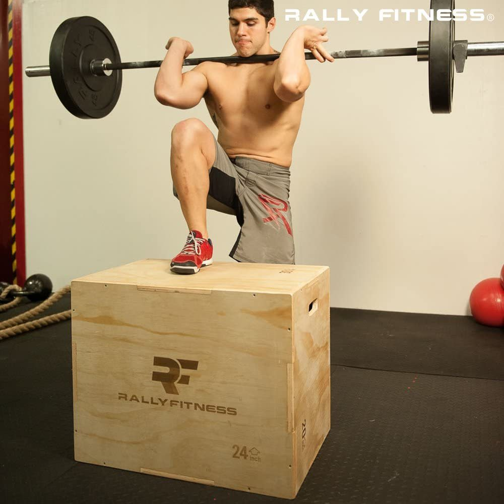 "3 in 1 Wood Plyometric Box (Adjusts to 20"", 24"" & 30"")"