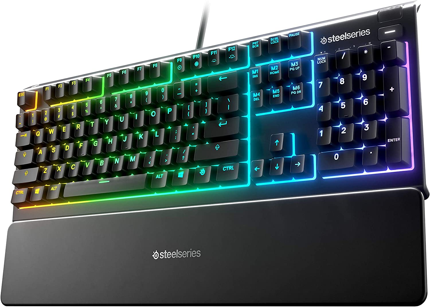 Apex 5 Hybrid Mechanical Gaming Keyboard – Per-Key RGB Illumination – Aircraft Grade Aluminum Alloy Frame – OLED Smart Display (Hybrid Blue Switch)