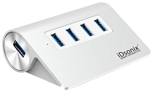 IDsonix 4 Port Aluminum USB 3.0 Hub Desk USB Hub Removable Multi Small USB Hub