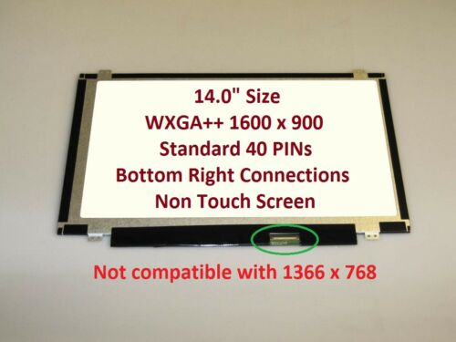 "Lenovo Thinkpad Edge E431 Replacement LAPTOP LCD Screen 14.0"" WXGA++ LED DIODE"