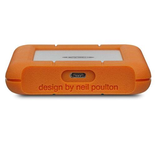 2TB LaCie Rugged Mini External Hard Drive - USB 3.1 Type C, Orange