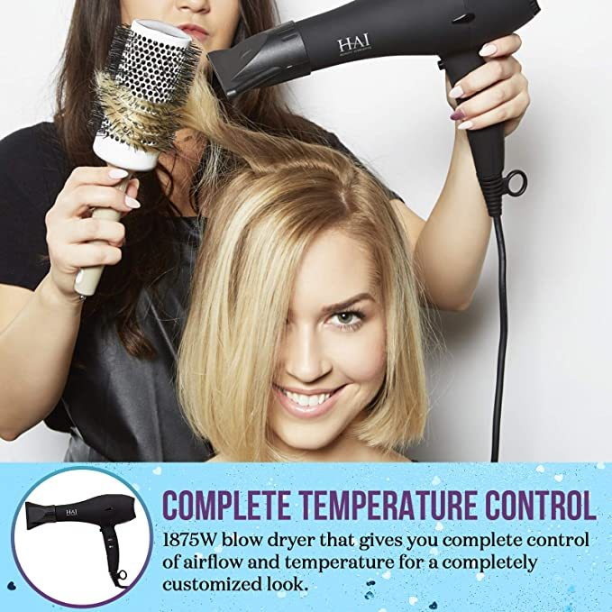 STYLSET by HAI - Ionic Professional Hair Dryer - Ultra Quick-Dry - Fully Adjustable Wind Speed and Temperature