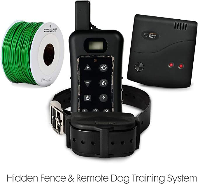 Sit Boo-Boo Electric Dog Fence & Remote Training System - Advanced Train & Containment System for Dogs w/Rechargeable + Submergible Collars