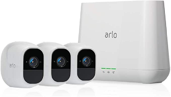Arlo Pro 2 - Wireless Home Security Camera System with Siren | Rechargeable, Night vision, Indoor/Outdoor, 1080p, 2-Way Audio, Wall Mount | Cloud Storage Included | 3 camera kit (VMS4330P)