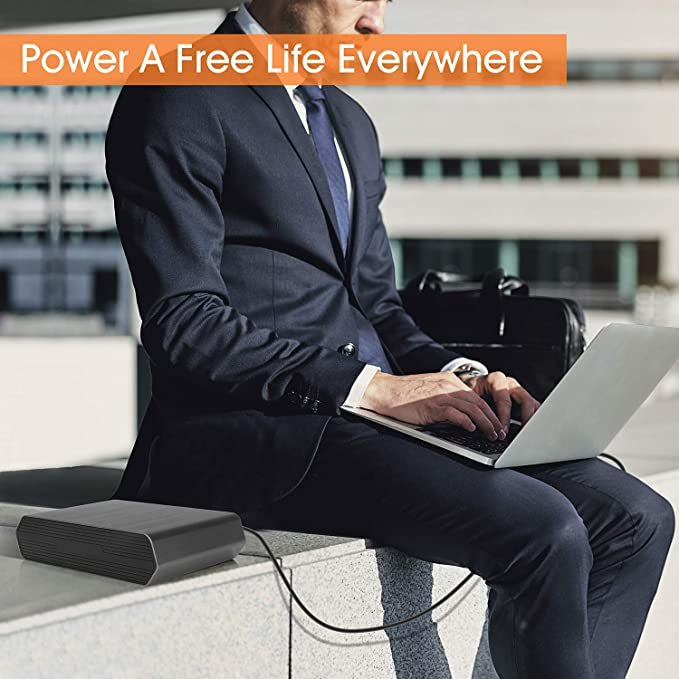 Portable Laptop Charger 40000mAh/148Wh AC Outlet Laptop Power Bank With 45W Type-C PD Charger For MacBook Pro/Air, HP Spectre, Dell XPS, Nintendo Switch, iPad Pro, iPhone 11/Pro/Max, Galaxy and More