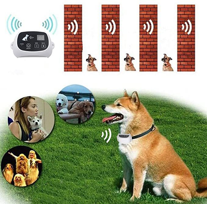 PetPi Wireless Dog Fence Containment System, 500M Radius Remote Control Transmitter + Electric Waterproof Training Collar Receiver