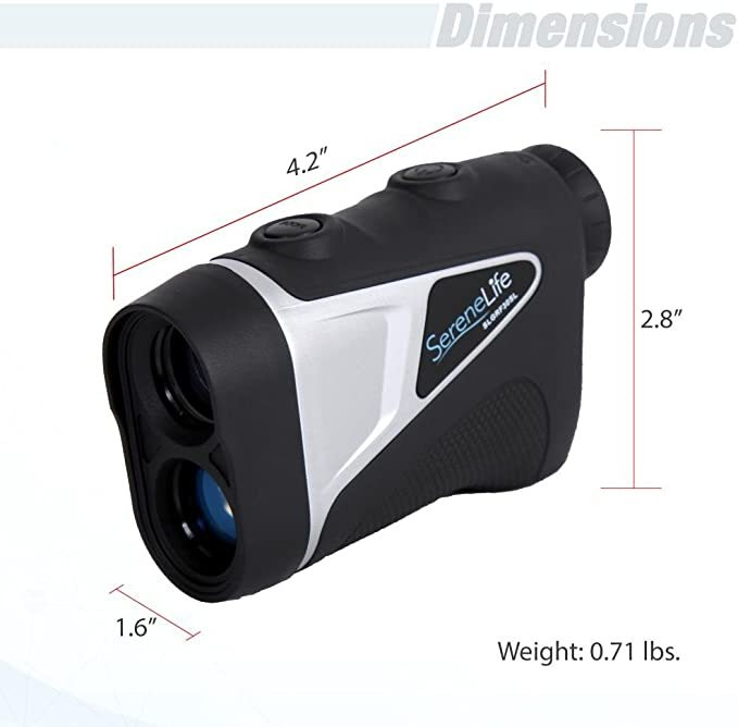 SereneLife Advanced Golf Laser Rangefinder with Pinsensor Technology - Waterproof Digital Golf Range Finder Accurate up to 540 Yards - Upgraded optical view