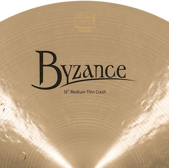 Meinl Cymbals B16MTC Byzance 16-Inch Medium Thin Traditional Crash Cymbal (VIDEO)