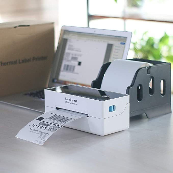 LabelRange Label Printer - Direct Thermal Desktop Printer for Barcodes,Labels,Mailing,Shipping and More - 300DPI Quality Print - Print Width of 4 inch - 4''x6'' Shipping Label Printer