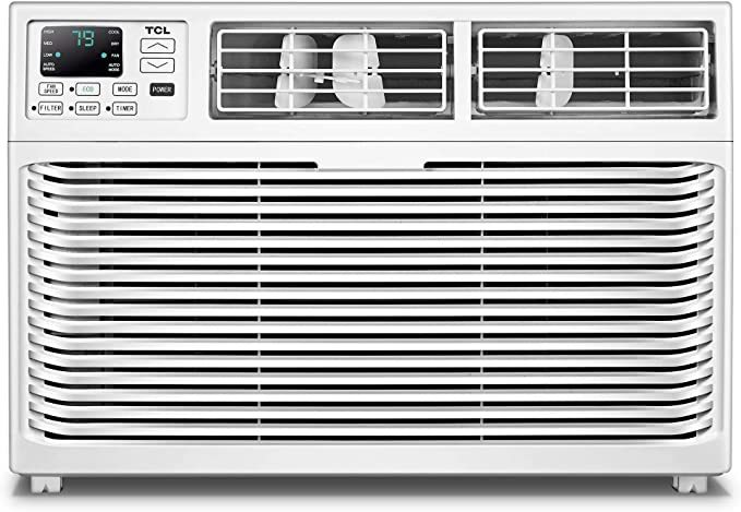 TCL Energy Star 8,000 BTU 115V Window-Mounted Remote Control, TWC-08CR/UH Air Conditioner, 8000, White