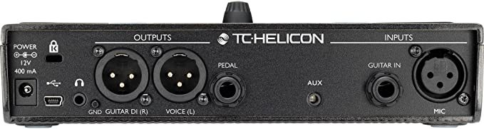 TC-Helicon Play Acoustic Vocal and Acoustic Guitar Effect Processor Pedal Bundle along w/Stereo Headphones + Xpix Cables + Fibertique Cloth