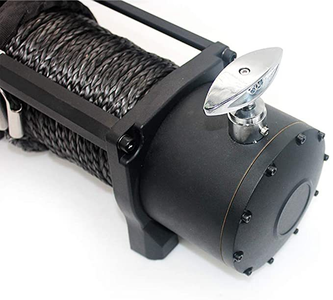 OPENROAD Waterproof 12V Synthetic Rope Electric Jeep Truck Winch 13000 lb.Load Capacity