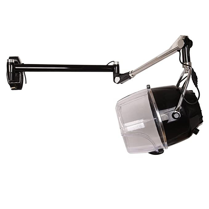 Ridgeyard 110V Swing Arm Wall Mounted Salon Hood Hair Dryer Adjustable Hood Timer Temperature with 900 Watts Heating Element for Quick Drying - Ridgeyard
