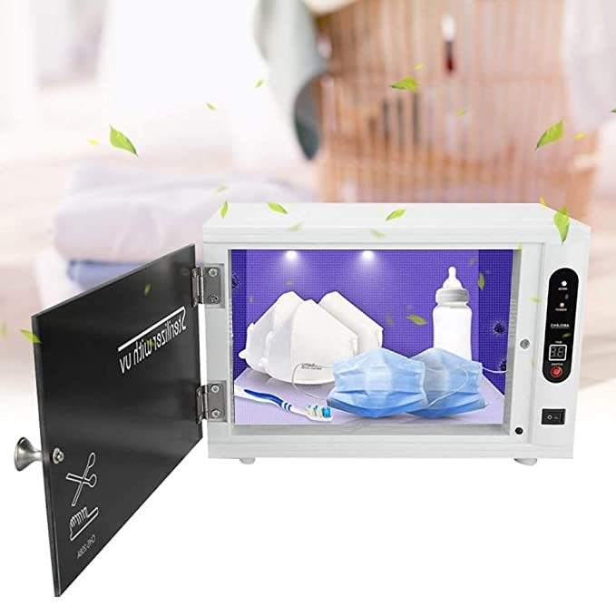 SEAAN U~V Light Sterilizer Box Cabinet Sanitizer with Timer for Salon SPA Manicure Nail Baby Bottle, Sterilization Machine Ultra~violet Disin~fection Tool