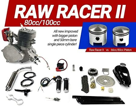 KingsMotorBikes Raw Racer II 80cc/100cc Bicycle Engine Kit