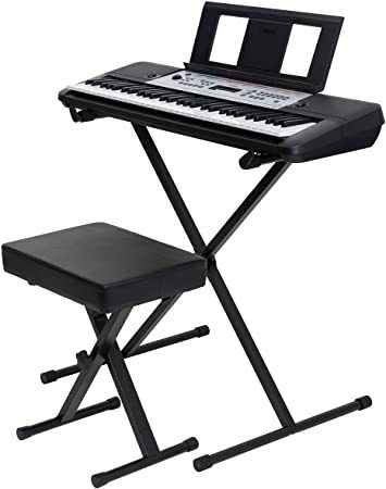 Yamaha Ypt2 60 61-Key Portable Keyboard Bundle With Stand, Bench And Power Supply