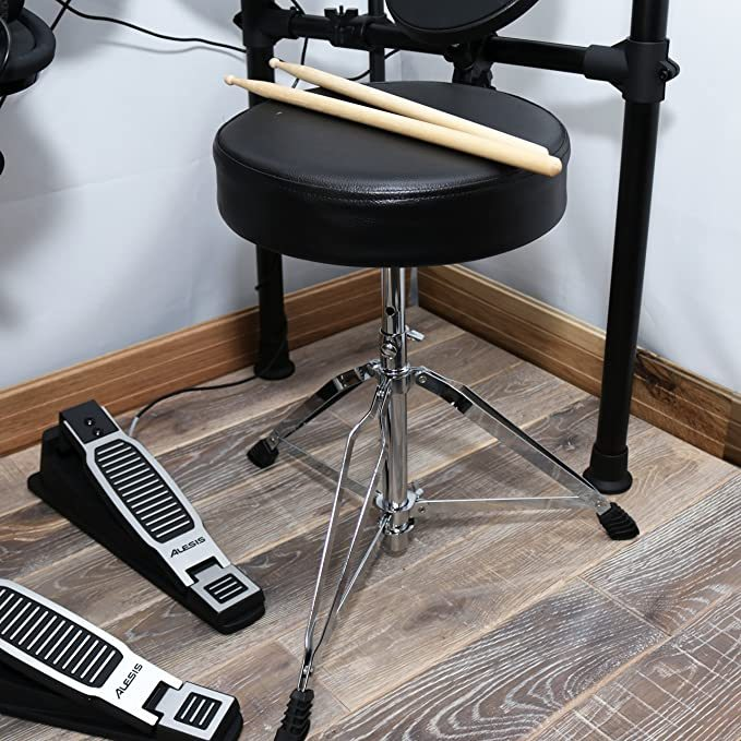 Alesis Seven-Piece Electronic Drum Burst Kit with DM6 Drum Module Includes Drum Throne, Drum Sticks, and FREE Headphones