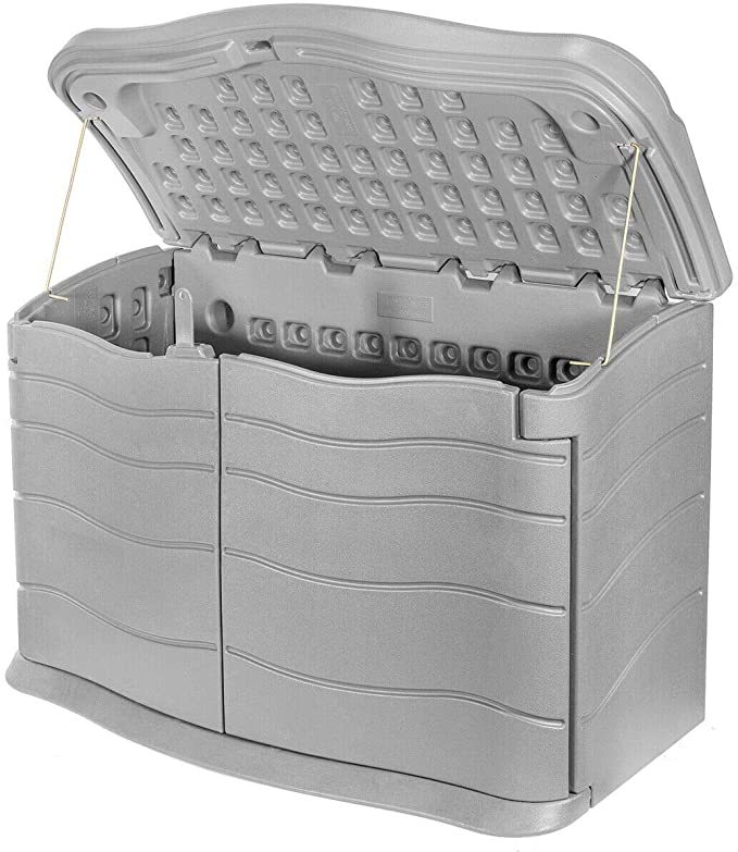 AVGDeals Outdoor Storage Shed Plastic Garden Cabinet All Weather Utility Box Pool Lawn | Designed to give homeowners a better space to store their outdoor products and tools