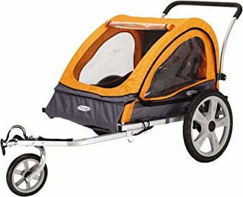 Instep Quick-N-EZ Double Tow Behind Bike Trailer, Converts to Stroller/Jogger