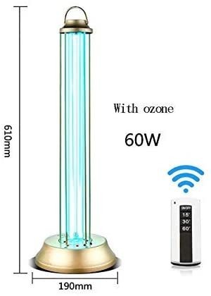 UV Light Disinfection UV Disinfection Lamps Ozone lamp to Kill viruses and Bacteria, Fungi 99.9 mite lamp, lamp Holder Remote Control 60W, no Ozone