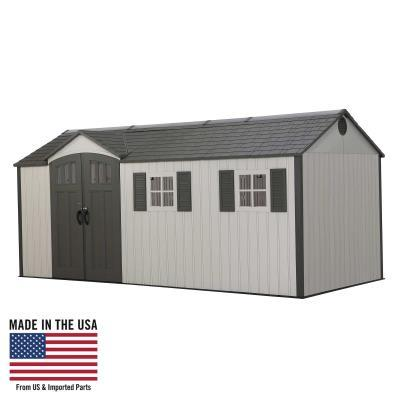 17.5 Ft. x 8 Outdoor Storage Shed 400